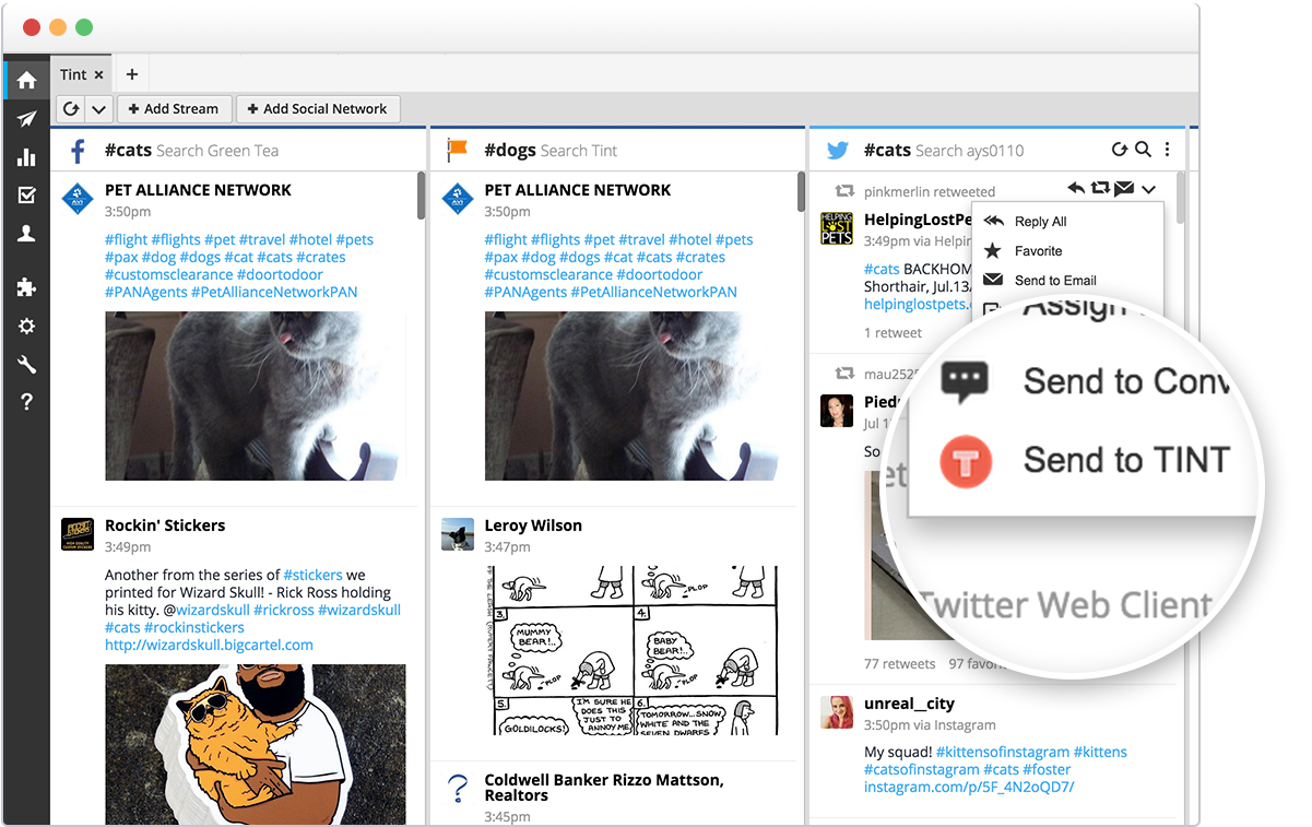 Hootsuite product screenshot